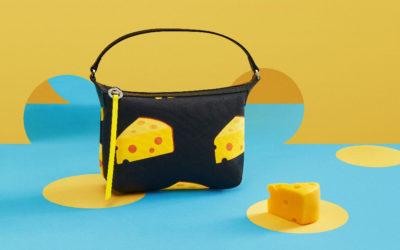 ネズミがかじったチーズがモチーフ 「LONGCHAMP(ロンシャン)」、Mr. Bags(ミスター・バッグ)と再コラボのバッグ発売