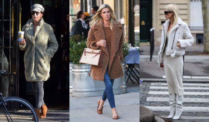 温かくて着痩せ効果抜群の「ボアアウター」の着こなし6選、海外セレブも寒い日のお出かけに愛用!