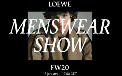 LOEWE(ロエベ)2020年秋冬パリメンズコレクション・ランウェイショー ライブストリーミング
