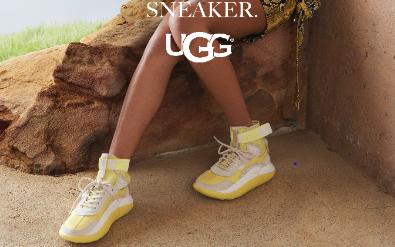 「UGG®」、相次いでスニーカーの新モデルを発売 ミリタリーをレースアップに、雲形ソールがアイキャッッチー