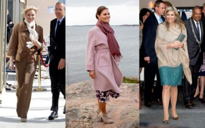 寒暖差の激しい日に最適!王妃たちが愛用する「ストール」の賢い着こなし
