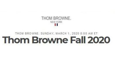 「THOM BROWNE(トム ブラウン)」2020-21年秋冬コレクション・ランウェイショー ライブストリーミング