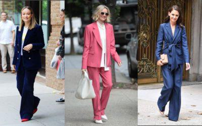 今年、パンツスーツの着こなしが変わった!海外セレブ流「フェミニンなパンツスーツ」コーデ6選