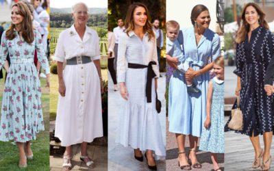 「清楚なシャツワンピース」コーデ5選!キャサリン妃やラーニア王妃の着こなしを拝見