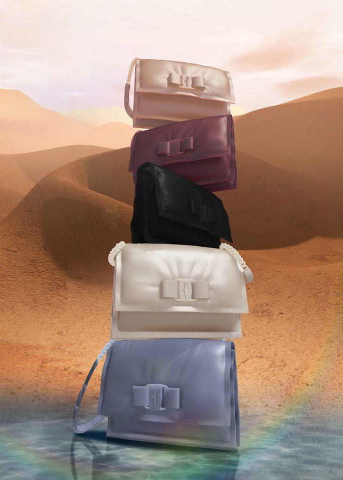 グログランリボンが象徴的なモチーフ 「サルヴァトーレ フェラガモ」、「VIVA Bow Bag」を発表