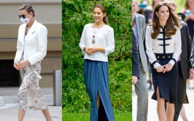 「真夏のスリットスカート」王妃はどう着こなしてる?涼しいのにエレガントなロイヤル・コーデ