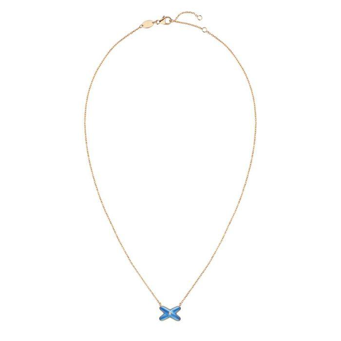 085106 Pendant Jeux de Liens PG dia Blue Agate