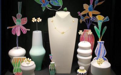 「Van Cleef & Arpels(ヴァン クリーフ&アーペル)」、伊勢丹新宿店本館でフランス人アーティストによる「FLORAE」を開催