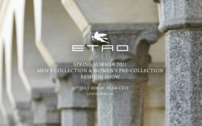 「ETRO(エトロ)」2021年春夏メンズコレクション&ウィメンズプレコレクション ライブストリーミング
