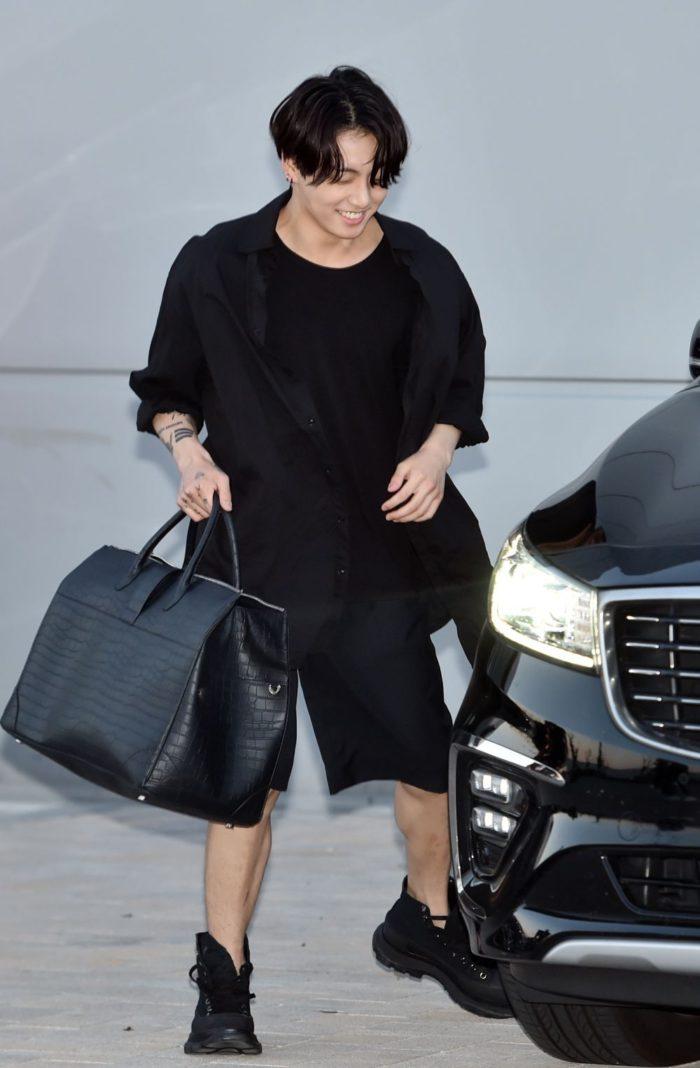 9-Jung Kook (BTS) - Wearing the Alexander McQueen Tread Slick