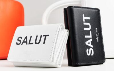 """フランス語のあいさつ""""SALUT""""をプリント 「michino」、スモールレザーグッズのコレクションを発売"""