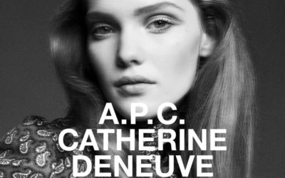 「A.P.C.(アー・ペー・セー)」、女優のカトリーヌ・ドヌーヴとコラボ