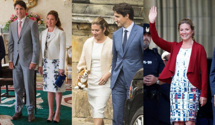 ファーストレディーがお手本!カナダ首相夫人、ソフィー・グレゴワ・トルドーさんの「ショート丈ジャケット×膝丈ワンピース」スタイル