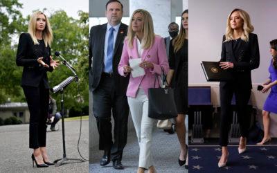 ホワイトハウス大統領報道官のケイリー・マクナニー流!美脚をメイクする「スティックパンツ」ルック
