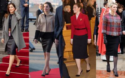 王妃流「黒のタイトスカート」で細見えする方法 「レザー&ストレッチ素材」で美ボディーをメイク