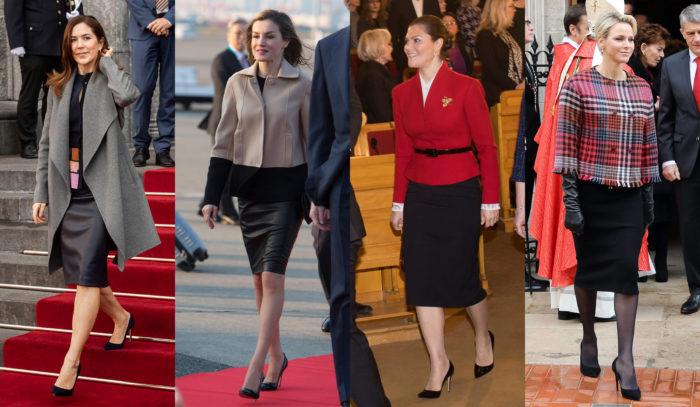 王妃流「黒のタイトスカート」で細見えする方法。「レザー&ストレッチ素材」で美ボディーをメイク