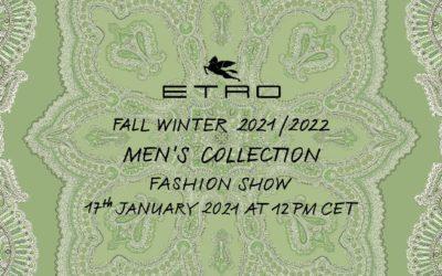 「ETRO(エトロ)」2021-22年秋冬メンズコレクション・ランウェイショー ライブストリーミング
