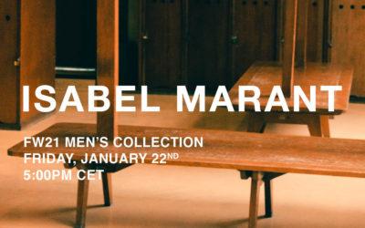 「ISABEL MARANT HOMME(イザベル マラン オム)」2021-22年秋冬パリメンズコレクション・ランウェイショー ライブストリーミング