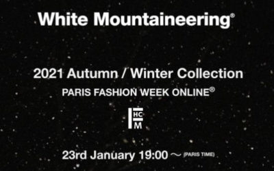 「White Mountaineering(ホワイトマウンテニアリング)」2021-22年秋冬パリメンズコレクション・ランウェイショー ライブストリーミング