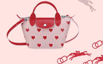 ピンクレザーやハートモチーフで「愛」を表現 「LONGCHAMP(ロンシャン)」、限定デザインの「ル プリアージュ® キュイール」を発売