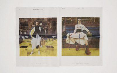 「LOEWE(ロエベ)」、2021-22年秋冬コレクションを発表 グラフィカルで楽観的、「装うよろこび」を新聞の折り込みで提案