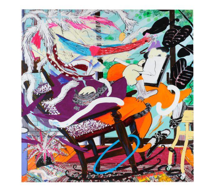 Masato Mori 2020 Acrylic paint, acrylic spray, oil chalk, oil paint on canvas