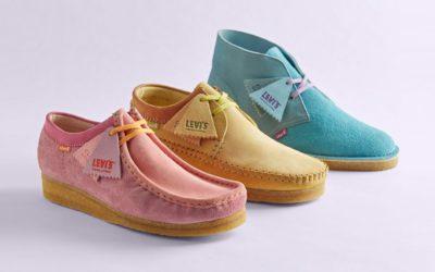 パステルカラーで彩られた、「クラークス」のアイコンシューズ3モデル Levi's® Vintage Clothing x Clarks Originals コレクションが発売