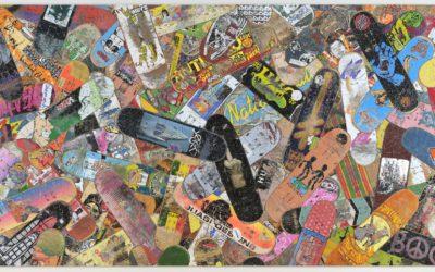 スケートボードをアート作品に 「NANZUKA UNDERGROUND」、Haroshi氏の新作個展を開催