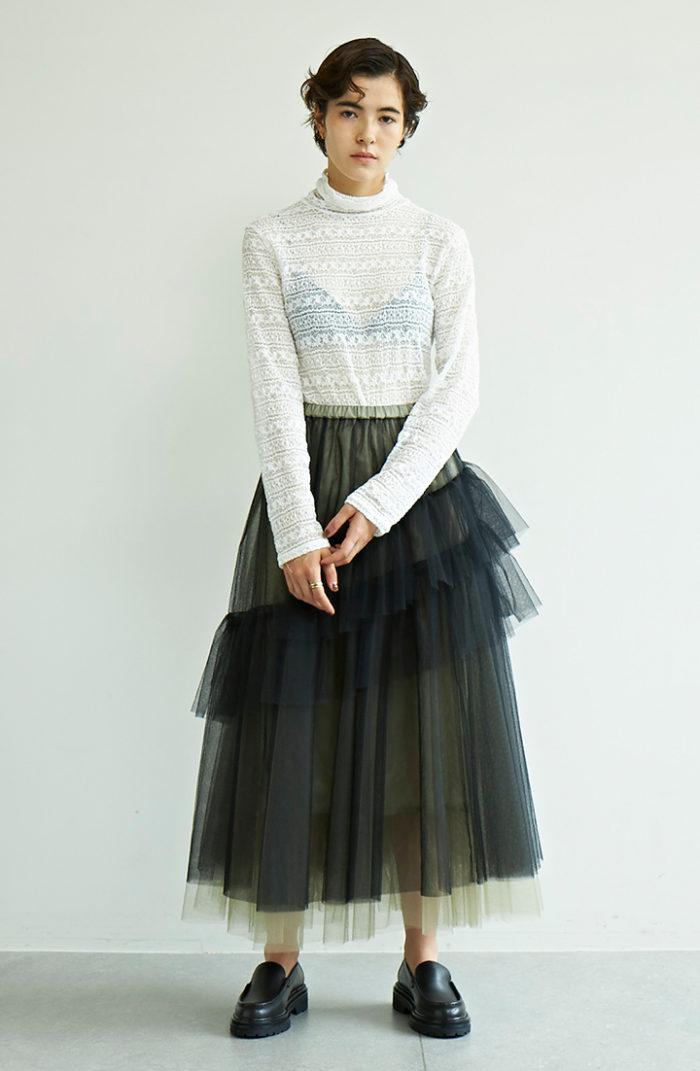 ドラマティックなスカートを「主役」使い!季節を超えた通年着回しに