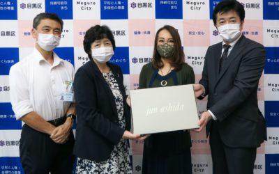 「jun ashida(ジュン アシダ)」、保健所職員を支援 抗ウイルス素材のオリジナルハンカチを寄付