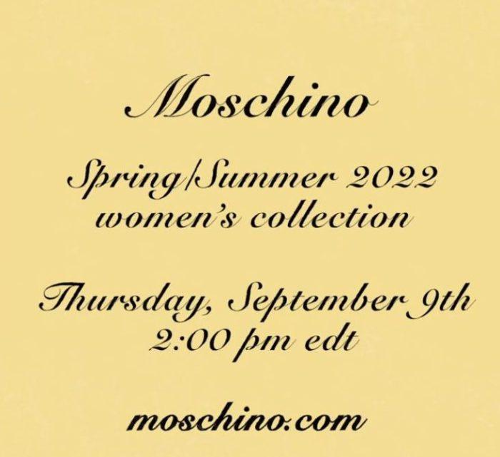 「MOSCHINO(モスキーノ)」2022年春夏コレクション・ランウェイショー ライブストリーミング