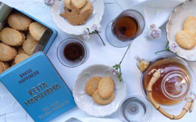 """ケイタマルヤマからロゴや花鳥柄をあしらったオリジナルのクッキー缶が登場 「KEITA MARUYAMA """"OMOTASE"""" PROJECT」が始動"""
